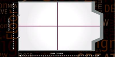 Разделите площадь пола на сегменты для нанесения клея. Площадь сегмента зависит от рабочего времени клея.