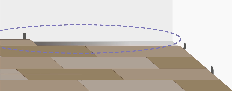 Продолжайте укладку аналогично до противоположной стены. Если планка последнего ряда не подходит по ширине, подрежьте ее, учитывая расширительный зазор.